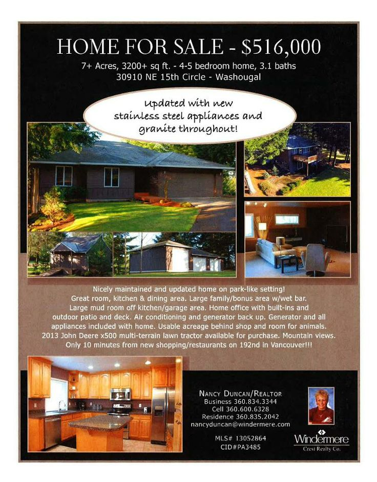 8 best Ideas for Open House images on Pinterest Real estate - home for sale brochure