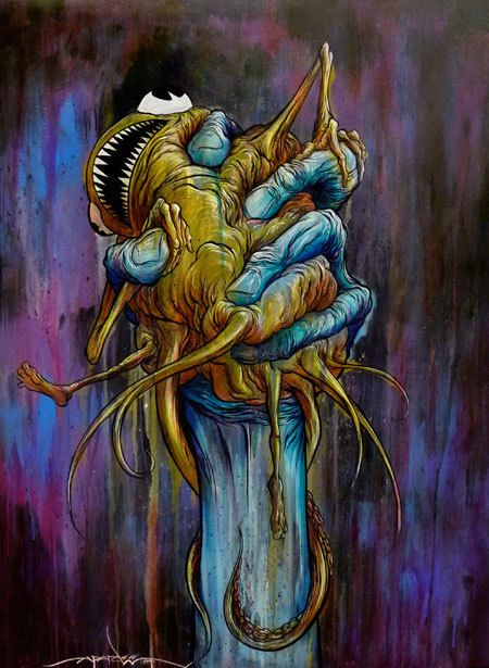 "Alex Pardee  ""Squeezy Hand"""