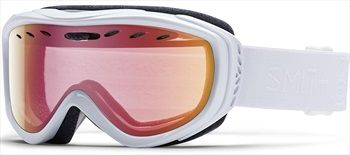 Smith Cadence Women's Snowboard/Ski Goggles, M, White GBF, Red Sensor