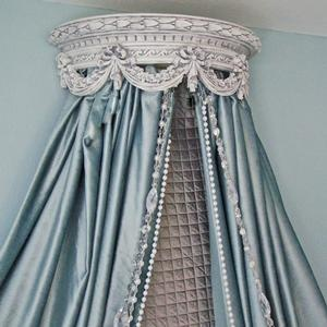 I don't care how old I get, I will always want a bed with drapes.