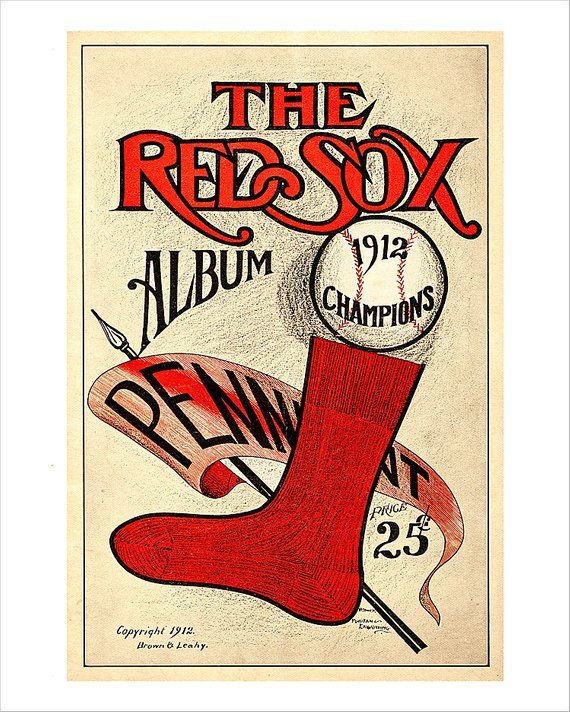 8d9ca6a19 Boston Red Sox - 1912 Champions Yearbook cover print - 8x10, 11x14 or 16x20  - Vintage old time baseb