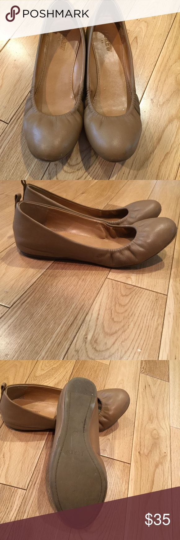J. Crew Factory Anya Leather Ballet Flats Color: Camel. Have been worn about 4 times. J. Crew Factory Shoes Flats & Loafers