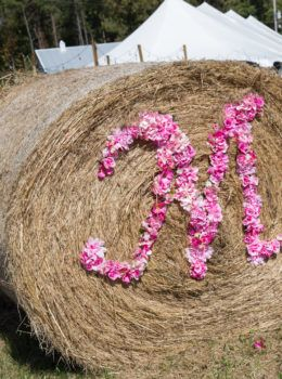 Wedding Initial Hay Bale