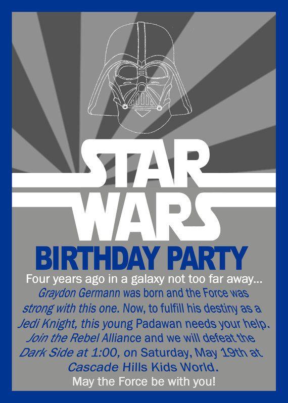 Star Wars Birthday Invitation By GrayciousDesigns On Etsy 1000