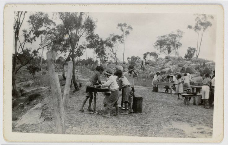 Cleaning Up. Ngoorumba Aboriginal School, Long Gully, Tingha, Dec. 1936. Australian Indigenous Ministries - pictorial collection - pre 1960 photographs Find more detailed information about this photograph: http://acmssearch.sl.nsw.gov.au/search/itemDetailPaged.cgi?itemID=421502  Digital order no.a731022 From the collection of the State Library of New South Wales: http://www.sl.nsw.gov.au