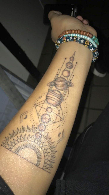 Best 25 Planet Tattoos Ideas On Pinterest Space Tattoos