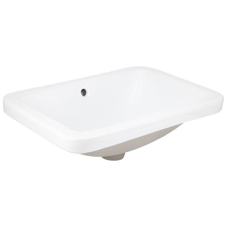 Briyelle Porcelain Drop-In Sink - Bathroom Sinks - Bathroom