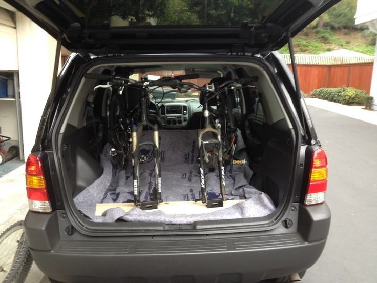 DIY Internal SUV Bike Rack: Making this since I'll be towing my renovated 'scamper' behind!