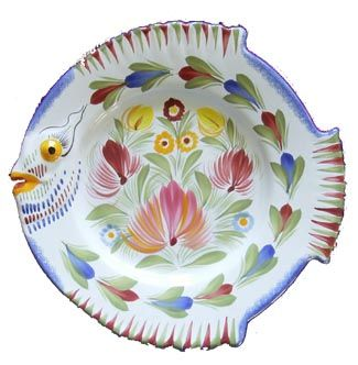 QUIMPER FISH PLATE · Ceramic PlatesCeramic ...  sc 1 st  Pinterest : french pottery dinnerware - pezcame.com
