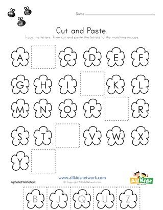 Spring Cut and Paste Missing Letters Worksheet | Letter \'F\' in 2018 ...