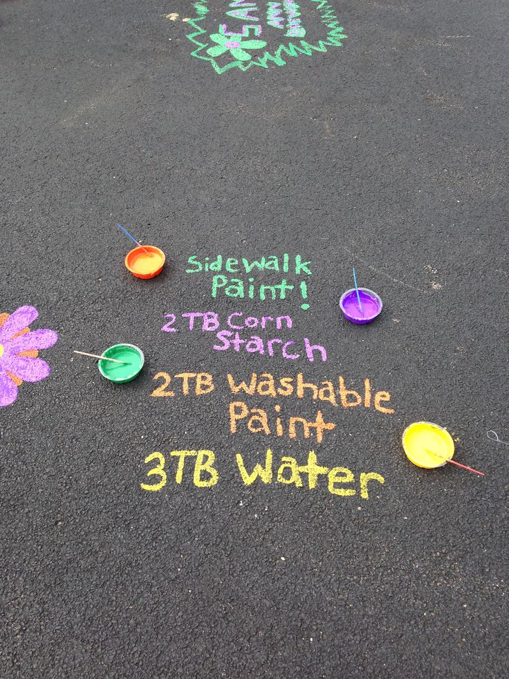 Sidewalk paint for filling the water balloons for a real life Splatoon match!