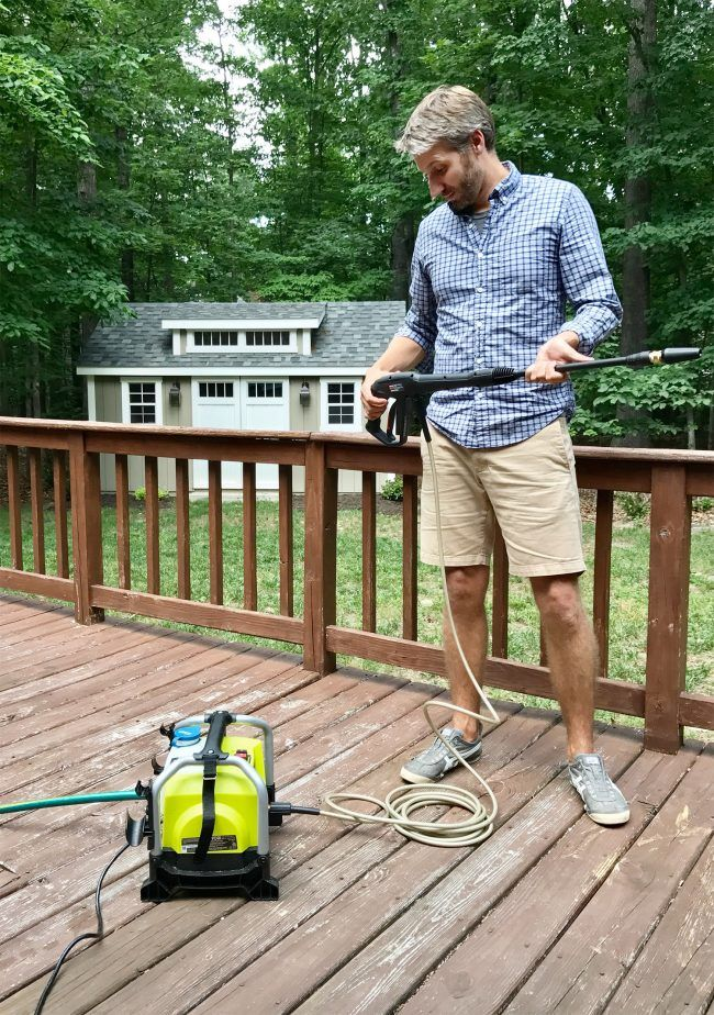 Cleaning Outdoor Cushions With A Cheap, Compact Pressure Washer