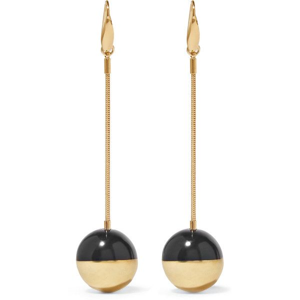 Isabel Marant Piece on Earth gold-plated resin earrings (650 BRL) ❤ liked on Polyvore featuring jewelry, earrings, accessories, gold, gold plated earrings, polish jewelry, isabel marant jewelry, earring jewelry and gold plated jewelry