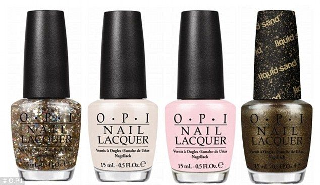 OPI has a new Oz-inspired range including (L to R) When Monkeys Fly!, Glints of Glinda, I Theodora You and What Wizardry is This?