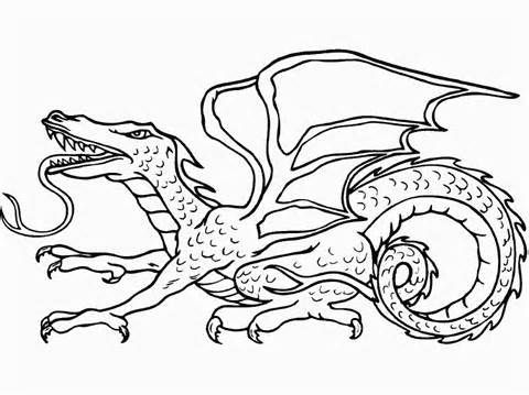scary dragon coloring pages editing