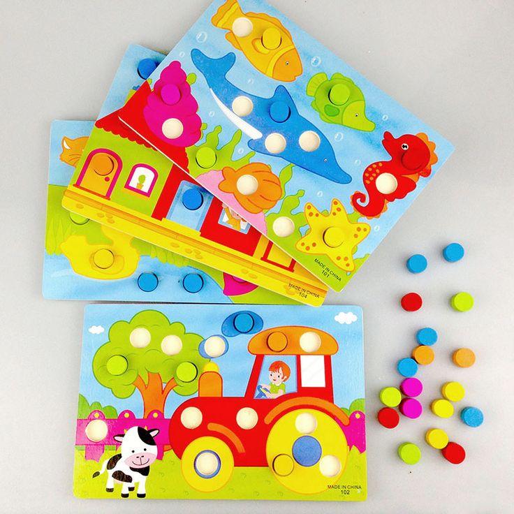 Montessori dřevěné puzzle, různé motivy, cca 68 Kč, opravdu velmi pěkné