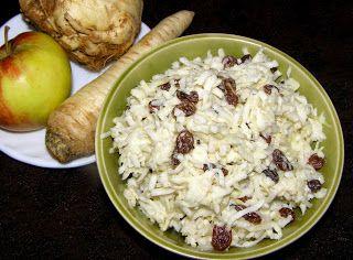 W Mojej Kuchni Lubię.. : zdrowa,smaczna surówka z pietruszki,selera,jabłka ...
