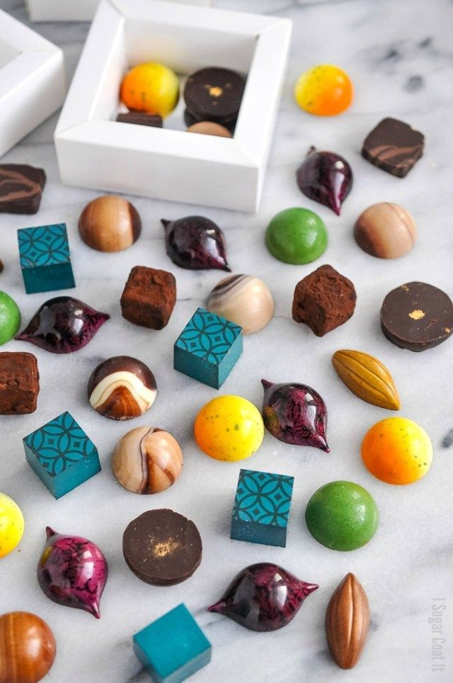 A Colourful Assortment Of Homemade Holiday Chocolate Bonbons Are The Perfect Edible Homemade Chocolate Bonbons Homemade Chocolate Candy Chocolate Candy Recipes