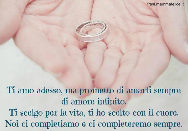 Frase con le promesse di matrimonio