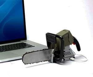 USB Powered Chainsaw, mi escritorio esta incompleto sin ella.