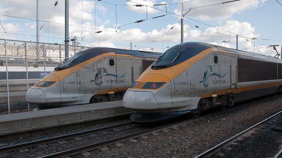 """Mit dem """"Eurostar"""" von Paris nach London"""