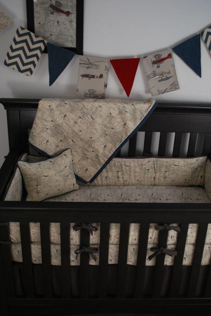 Best 25 aviation nursery ideas on pinterest airplane nursery airplane baby room and airplane - Airplane crib bedding sets ...