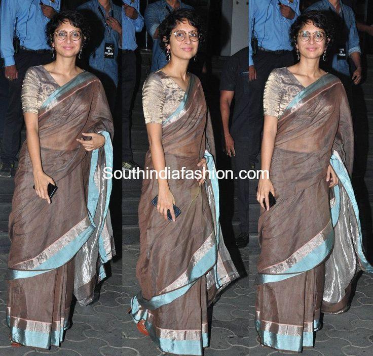 Kiran Rao in Raw Mango Saree