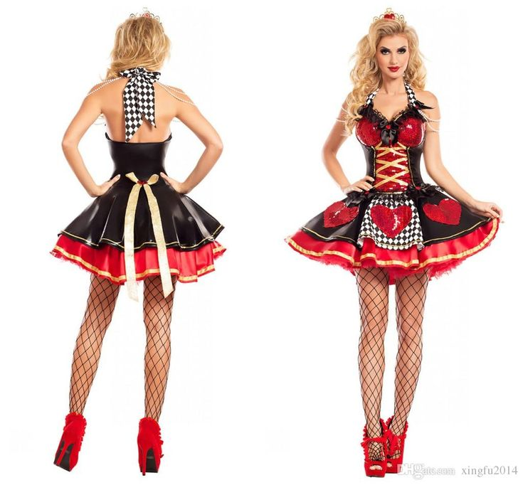 Halloween Costumes Adult Womens Poker Red Queen Of Hearts Costume Dress Carnival Party Queen Costumes For Women Adult Couple Halloween Costumes Best Group Halloween Costumes From Xingfu2014, $26.89| Dhgate.Com