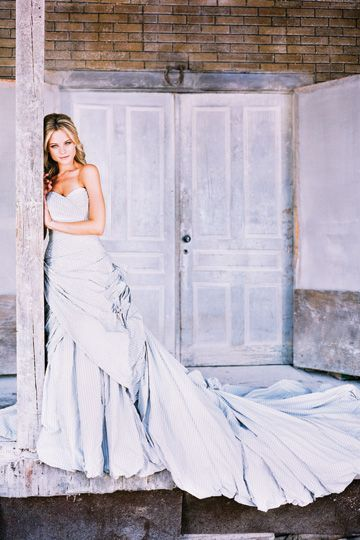 """Libertine"" Striped dress by Ian Stewart Paper | Cotton, Flour | SW Paper, Cotton, Flour | Editorial"