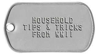Household Tips: WWII Frugal Solutions List