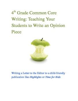 Writing Skills - Writing an Opinion Piece (Grade 1)