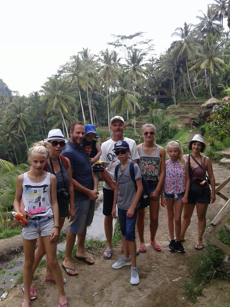 Baptiste and families from France on a two week vacation in Bali