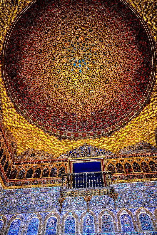 Hall of the Ambassadors at Royal Alcazars of Sevilla,  Spain