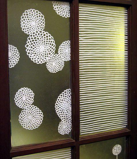 DIY Window Films / contact paper + pen