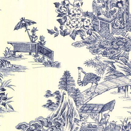 Robert Kaufman Fabrics: EK-3060-6 IVR/NAV from Oriental Traditions Original Collection