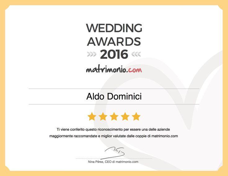 Anche quest'anno una grande soddisfazione! #weddingawards #weddingawards2016