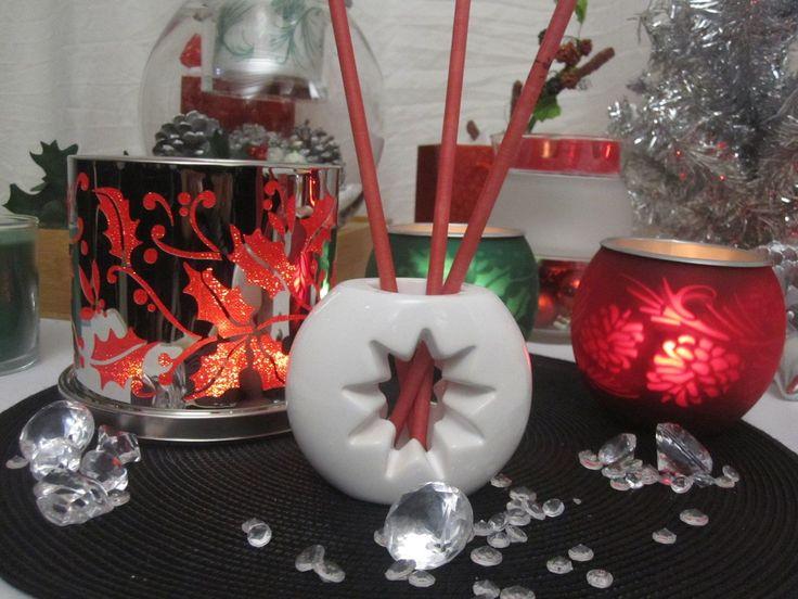 Enchanted Crimson Berry candle holder, Seasonal Shadows tea light holder pair and the SmartScents Star holder - new fragrance sticks