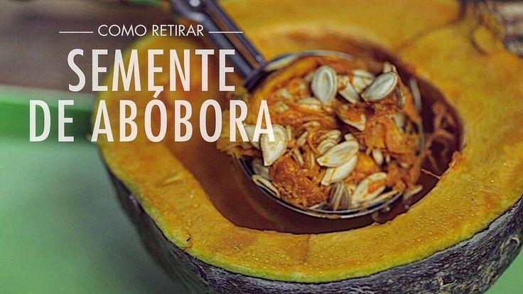Hoje temos uma dica de ouro pra remover sementes de abóbora  confira lá link na bio ou https://youtu.be/wYoyWb78hwE #abobora #gourmet #semente #gourmetadois #receita#tecninca