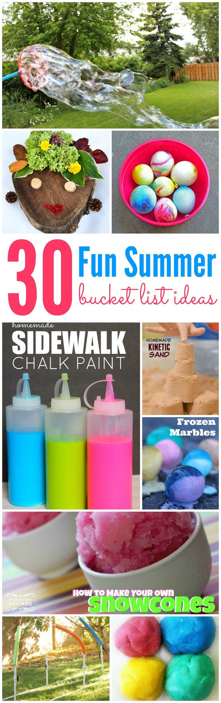 30 fun ideas for your family's summer bucket list! Great activities for all ages!