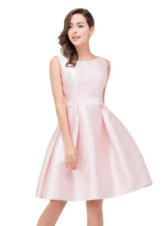 USD$81.00 - Lovely Pink Sleeveless 2018 Short Homecoming Dress Zipper Back - www.27dress.com