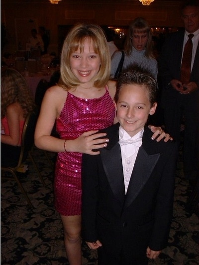 A young Hilary Duff & Jake Thomas at an event for Lizzie McGuire #throwback
