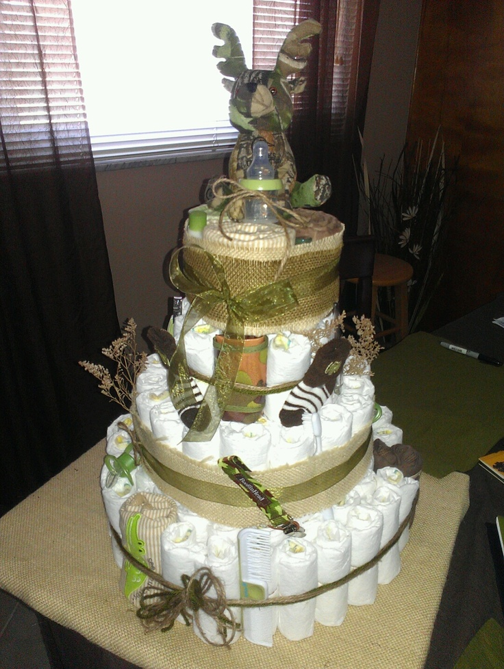 1000+ ideas about Camo Diaper Cake on Pinterest Baby ...