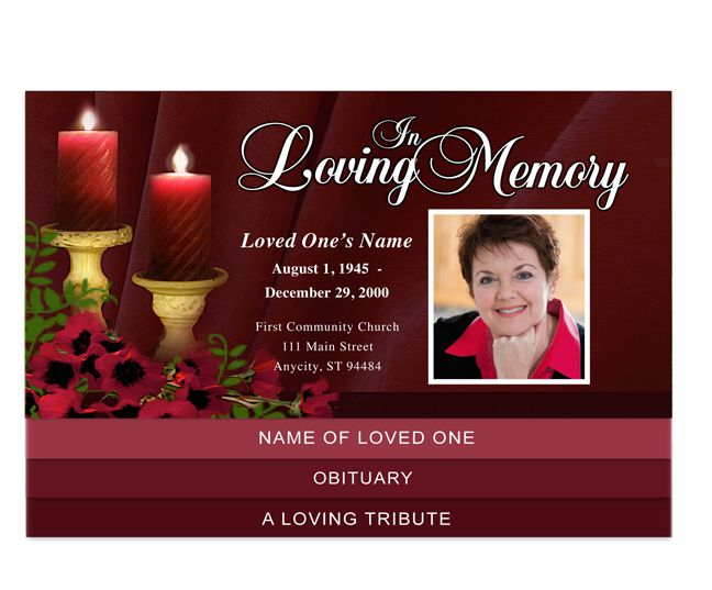 30 best Creative Memorials - Graduated Style Funeral Programs - funeral announcement template free