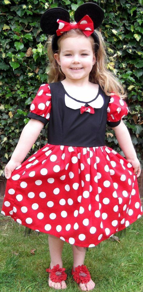 Childrens Minnie Mouse Costume Handmade in any size