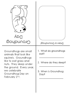 Free Story Booklet & Questions - Groundhog Day