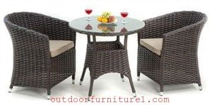 The rattan 2 seated stackable set is stylish and durable outdoor furniture which is vastly using at present. It is smooth and lightly textured finish with curved edges.