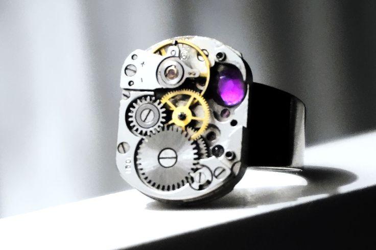 Steampunk Bdsm Men's Jewelry Ring Soviet Vintage Birthday Wedding Gift Man