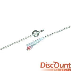 Bard / Rochester Medical - 1768SI18 - 2-way Foley Catheter, 18 Fr, 30 Cc, Lubri-sil I.c.