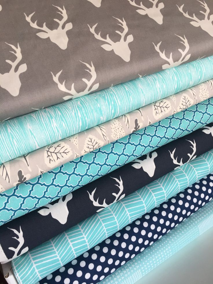Woodland Blanket Fabric Bundle, Woodland Baby Quilt fabric, Rustic Home Decor, Deer Bedding, Woodland fabric, Bundle of 9, Choose the Cuts by FabricShoppe on Etsy