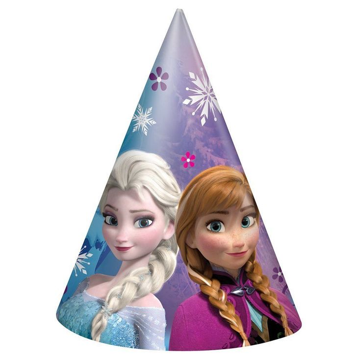 Disney's Frozen Party Favors Cone Hats 8 Per Package Birthday Supplies New #Unique #BirthdayParty